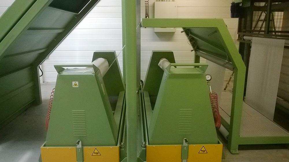 Desbobinadoras de PCM Enginnering para espuma, tejidos, películas, papel, aluminio u otros materiales.